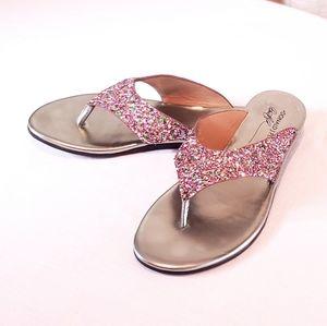 Pliner Glitter Sandal Stefan Sparkly Flip Flop